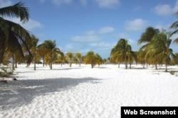 Playa Sirena, en Cayo Largo.