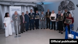 Galardonados en la cena anual del Instituto de la Memoria Histórica Cubana, Miami 2018. Fotografía de Wenceslao Cruz.