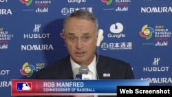 Rob Manfred, Comisionado de Béisbol.