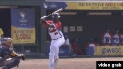 El tercera base cubano Malcom Núñez cuando tenía 15 años, en la Copa del Mundo de Béisbol de esa categoría en Japón.