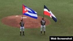 Las banderas de Cuba y República Dominicana.