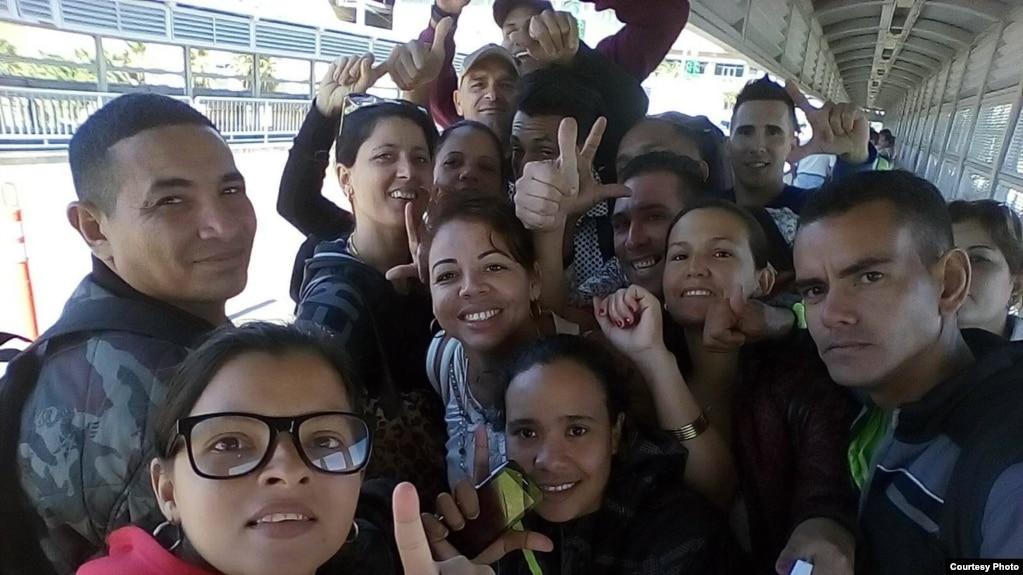 Cubanos arriban a la frontera mexicana con EEUU. (Foto: María Montoya)