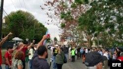 Protesta de independentistas puertorriqueños en San Juan (foto de archivo)