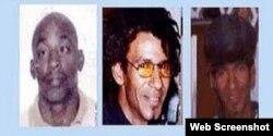 Lorenzo Enrique Copello, Bárbaro Leodán Sevilla García y Jorge Luis Martínez Isaac, fusilados por el régimen cubano (Foto: Archivo).