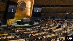 La 74 Asamblea General de Naciones Unidas en plena sesión el miércoles 30 de octubre (Foto: Timothy A. Clary/AFP).