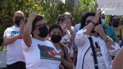 Cubanos en Miami llevan a cabo una marcha exigiendo reanudar el programa de reunificación familiar