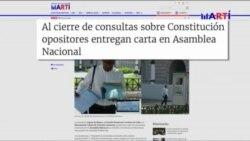 Opositores cubanos entregan propuestas en Asamblea Nacional