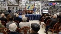 Exiliados cubanos expresan su apoyo al presidente de Venezuela Juan Guaidó