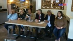 Exiliados venezolanos llaman a desconocer segundo mandato de Nicolás Maduro