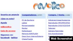 Imagen de pantalla de web revolico.com.