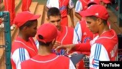 Algunos integrantes del equipo Cuba en el Mundial Juvenil de Béisbol Taiwán 2009.