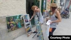 Calles de La Habana donde realizan sus ventas los cuentapropistas Foto Serafín Morán