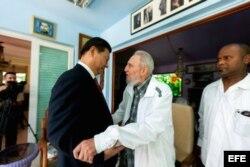Castro recibió a Xi Jinping, con quien habló, entre otros temas, de sus investigaciones y estudios sobre las posibilidades para multiplicar la producción de alimentos