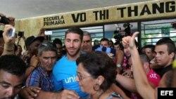 Así fue la visita del futbolista Sergio Ramos a Cuba