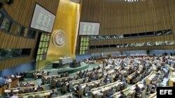 Asamblea General de la ONU durante una sesión donde trataron el tema del embargo a Cuba