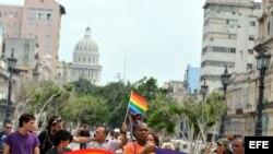 Marcha independiente por el Orgullo Gay en La Habana.