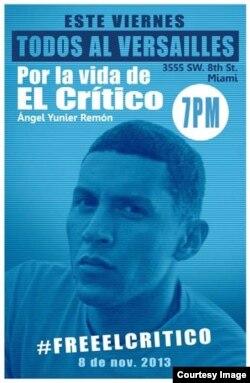 Campaña en solidaridad con Angel Yunier Remon. Cartel de Rolando Pulido.