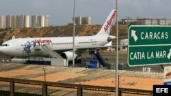 Aeropuerto internacional de Maiquetia, en Caracas, Venezuela.