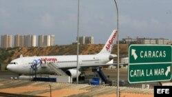 Aeropuerto internacional de Maiquetía, en Caracas, Venezuela.