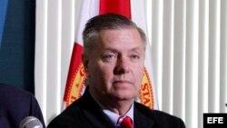 Fotografía de archivo del senador Lindsay Graham.