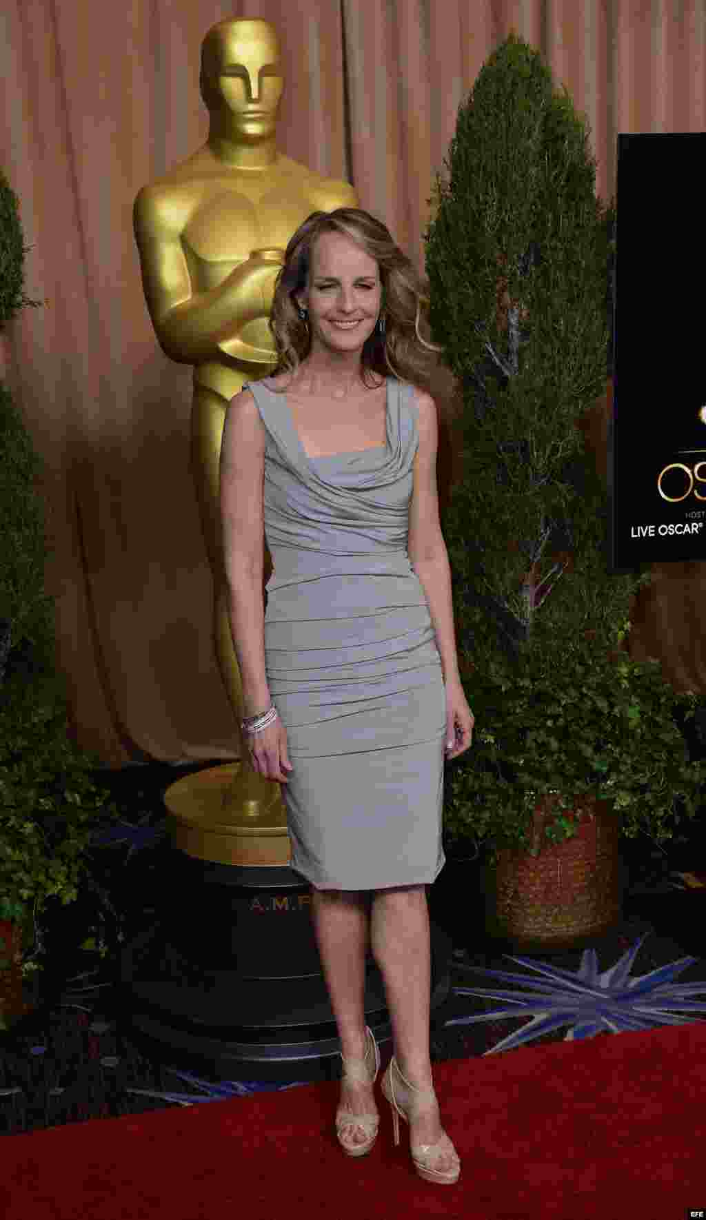 "La actriz estadounidense Helen Hunt, nominada por ""The Sessions""."