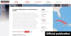 Ficha de Cuba en RSF.