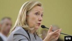 La secretaria de Estado estadounidense Hillary Clinton