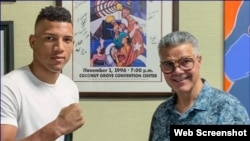 David Osvary Morrell, a la izquierda, representado por Warriors Boxing. (Captura de imagen/World Boxing News)