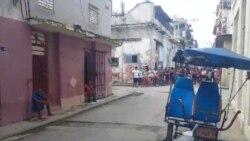 La sede del Movimiento San Isidro sitiada por la policía política. (Facebook)