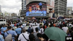 Los filipinos siguieron el combate de Pacman con devoción