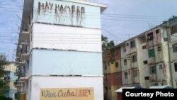 """Cartel """"Hay hambre"""", Caimanera."""
