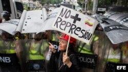 Manifestación opositora en Venezuela.