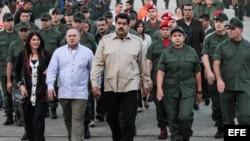 Nicolás Maduro en una foto de archivo durante el lanzamiento de un canal de las Fuerzas Armadas de Venezuela.