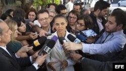 MARINA SILVA SE DIRIGE AL DEBATE TELEVISADO DE LAS PRESIDENCIALES BRASILEÑAS