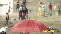 Desalojo a la fuerza en Palma Soriano captado en cámara