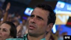 El candidato de la oposición a la presidencia de Venezuela, Henrique Capriles Radonsky.