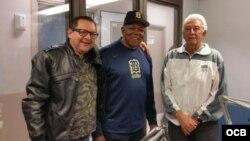"Edemio Navas, Tony Oliva y ""El Guajiro"" Peña (i-d)."
