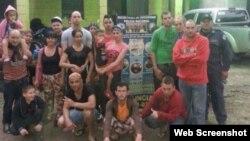 Fotografía de archivo con cubanos retenidos en Honduras 27 de noviembre.