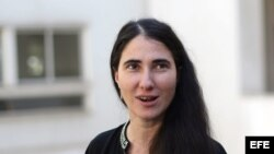 La bloguera y periodista cubana Yoani Sánchez.