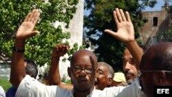 Un acto de repudio contra el líder del grupo disidente Arco Progresista, Manuel Cuesta Morúa. Foto Archivo.