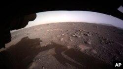 Imagen tomada por la NASA en la superficie de Marte.