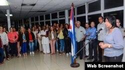 El primer grupo de médicos cubanos procedentes de Brasil, arribó este jueves a La Habana