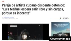 Captura de pantalla de la entrevista en la página de CNN en Español.