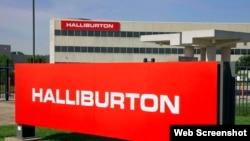 Logo de la sede de Holliburton en Houston, Texas.