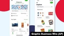 Dos imágenes de la aplicacion para compras digitales de la cadena estadounidense de farmacias Walgreens. [Foto de archivo]