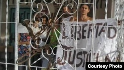 Activistas repudiados en Contramaestre, Santiago de Cuba. Cortesía, UNPACU.