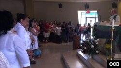 Damas de Blanco en el exilio marcharon en apoyo a las Damas en Cuba.