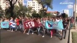 Celebraciones en las calles de La Habana
