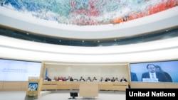 Consejo de Derechos Humanos de la ONU en Ginebra. (Archivo)