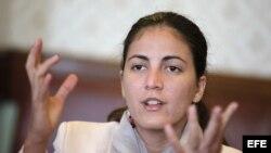 La hija del disidente cubano Oswaldo Payá, fallecido el año pasado, Rosa María Payá